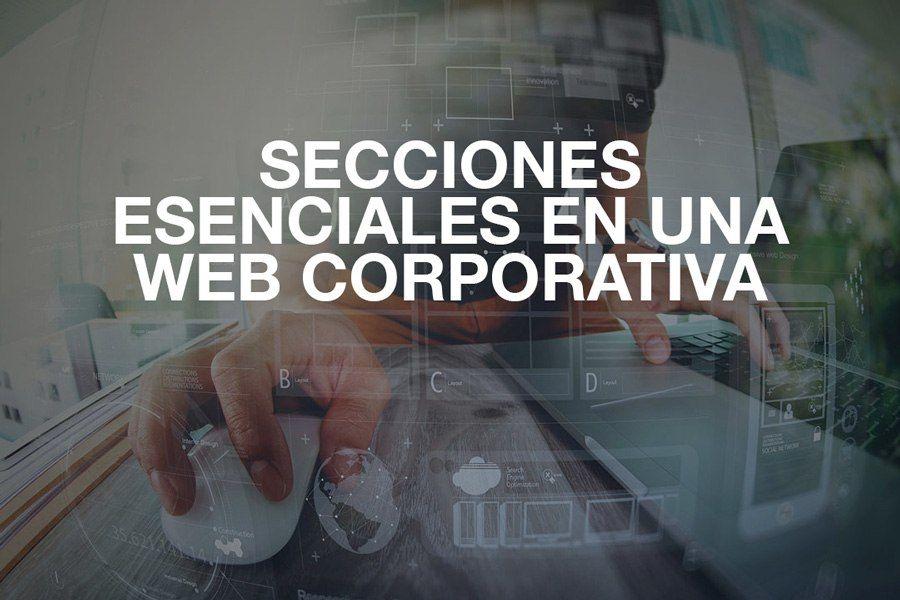 secciones en web corporativa