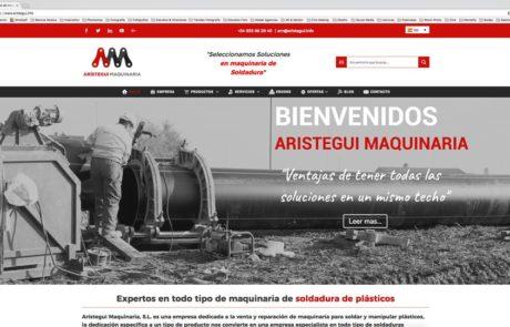 Arístegui Maquinaria - Diseño Web 1
