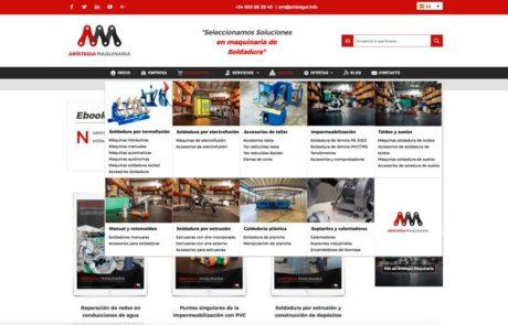 Arístegui Maquinaria - Diseño Web 2