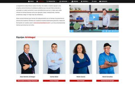 Arístegui Maquinaria - Diseño Web 3