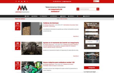 Arístegui Maquinaria - Diseño Web 4