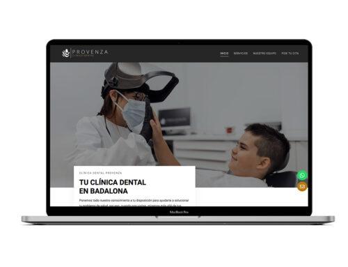 Provenza Clínica Dental – Diseño Web